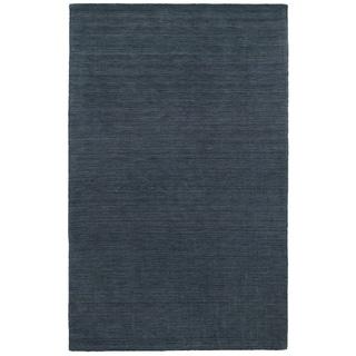 Handwoven Wool Heathered Navy Area Rug (6' x 9')