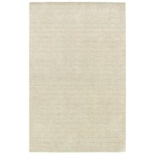Handwoven Wool Heathered Beige Area Rug (6' x 9')