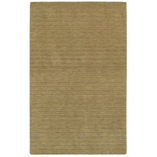 Handwoven Wool Heathered Gold Area Rug (6' x 9')