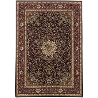 Updated Old World Persian Flair Brown/ Red Area Rug (6'7 x 9'6)