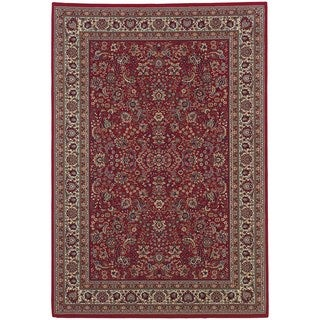 Updated Old World Persian Flair Red/ Ivory Area Rug (6'7 x 9'6)