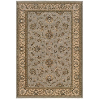 Updated Old World Persian Flair Blue/ Ivory Area Rug (6'7 x 9'6)