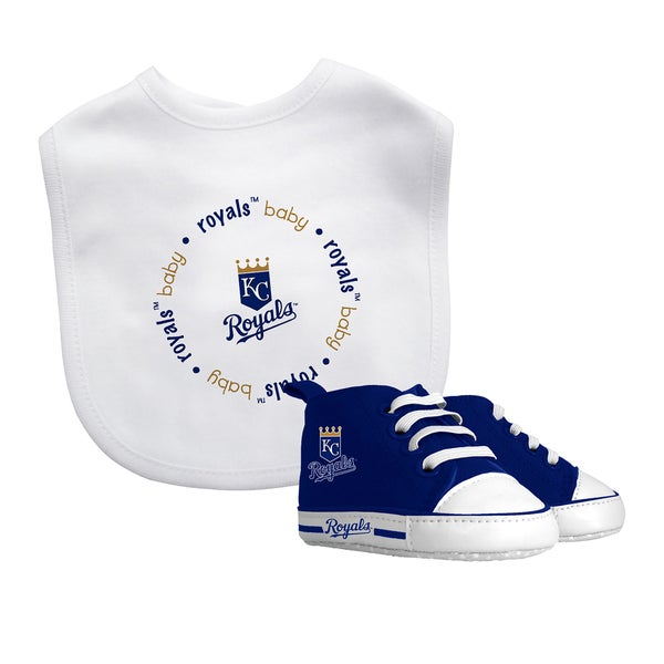 Kansas City Royals Bib and Pre-Walker Shoes Gift Set