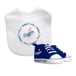 Los Angeles Dodgers Bib and Pre-Walker Shoes Gift Set