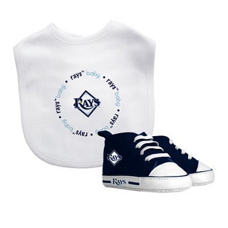 Tampa Bay Rays Bib and Pre-Walker Shoes Gift Set