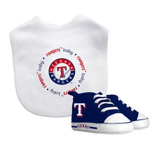Texas Rangers Bib and Pre-Walker Shoes Gift Set