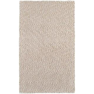 Cozy Indulgence Heathered Tan Shag Area Rug (6'6 x 9'6)