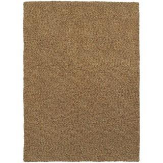 Cozy Indulgence Heathered Gold Shag Area Rug (6'6 x 9'6)