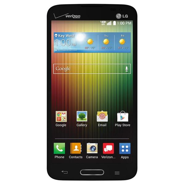 LG Lucid 3 VS876 Verizon Locked Android 4G LTE Certified Refurbisehd Cell Phone - Black