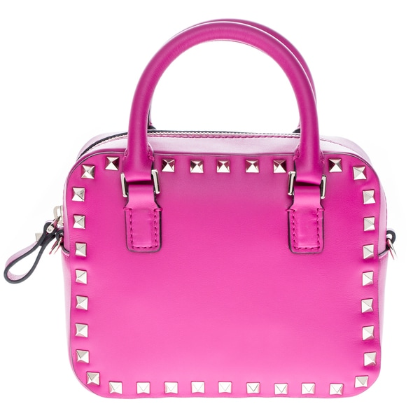 Valentino Mini Rockstud Smooth Leather Top-Handle Handbag