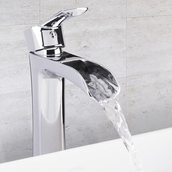 VIGO Niko Bathroom Vessel Faucet in Chrome