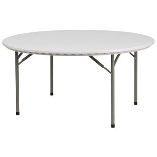 60-inch Round Granite White Plastic Folding Table