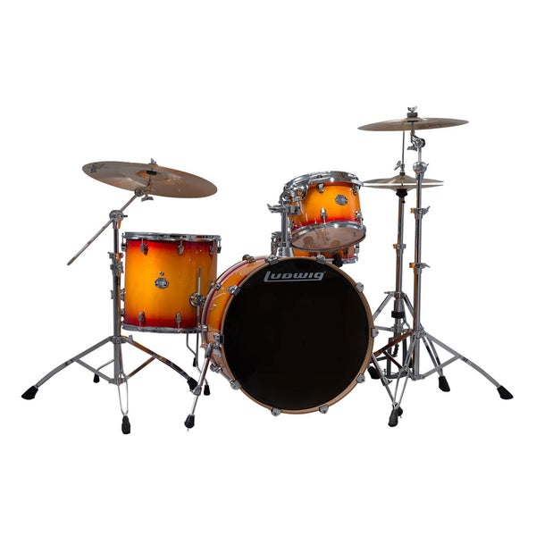 Ludwig Element Birch Icon 4pc Shell Pack - Sunburst