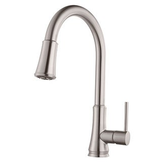 Pfister Pfirst Series Pull-down Stainless Steel Kitchen Faucet