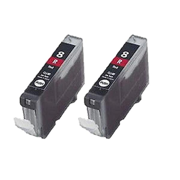 2PK CLI-8 Red Compatible Inkjet Cartridge For Canon PIXMA Pro 9000 ( Pack of 2 )