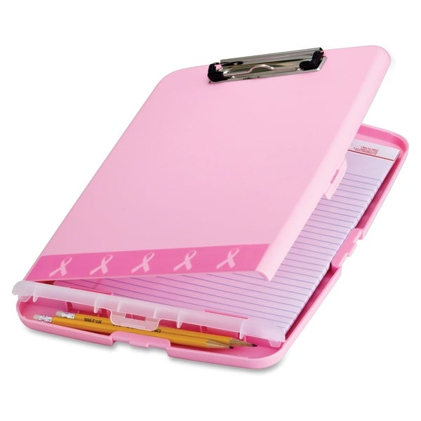 Officemate Breast Cancer Awareness Pink Clipboard Box