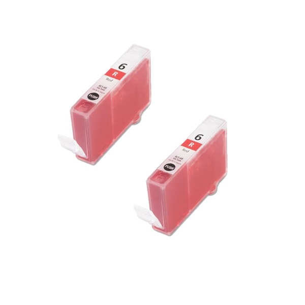 2PK BCI-6R Red Compatible Ink Cartridge For Canon ii990 i9900 i9950 ( Pack of 2 )
