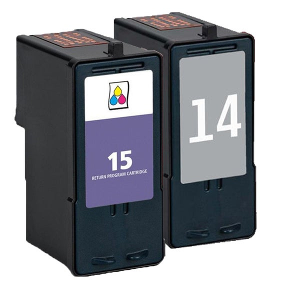 2 Pack 18C2090 (#14) 18C2110 (#15) Compatible Ink Cartridge For Lexmark X3530/Z1410 (Pack of 2)