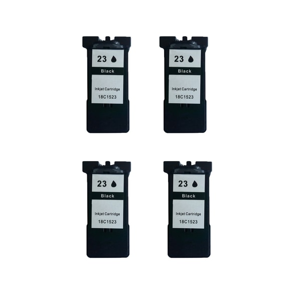 4 Pack 18C1523 (#23) Black Compatible Ink Cartridge For Lexmark X3530/Z1410 (Pack of 4)