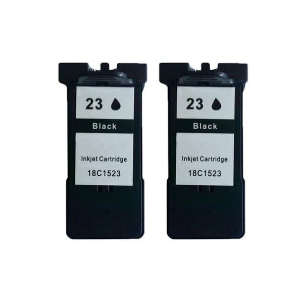 2 Pack 18C1523 (#23) Black Compatible Ink Cartridge For Lexmark X3530/Z1410 (Pack of 2)