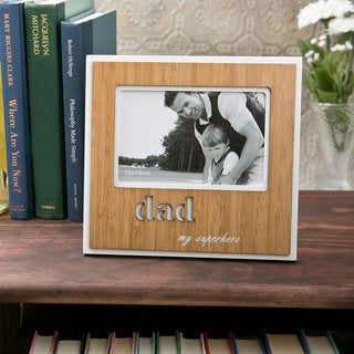 Fashioncraft 'Dad' Bamboo Picture Frame