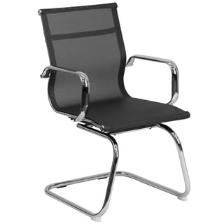 Mesh Side Chair with Chrome Sled Base