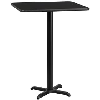 30-inch Square Laminate Table Top with 22-inch x 22-inch Bar Height Table Base