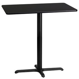 24-inch x 42-inch Rectangular Laminate Table Top with 22-inch x 30-inch Bar Height Table Base