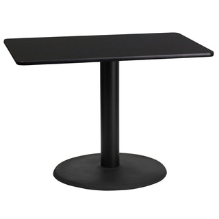 24-inch x 42-inch Rectangular Laminate Table Top with 24-inch Round Table Height Base