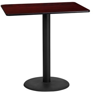 24-inch x 42-inch Rectangular Laminate Table Top with 24-inch Round Bar Height Table Base