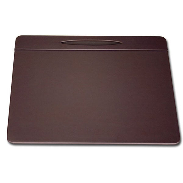 Chocolate Brown Leatherette (17x14-inch) Top Rail Conference Pad With Pen Well