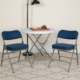 Hercules Series Premium Curved Triple Braced and Quad Hinged Fabric Upholstemetal Folding Chair