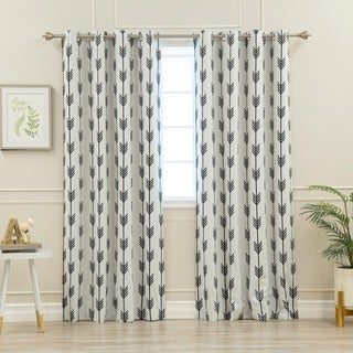 Aurora Home Arrow Room-Darkening Grommet Curtain Panel Pair