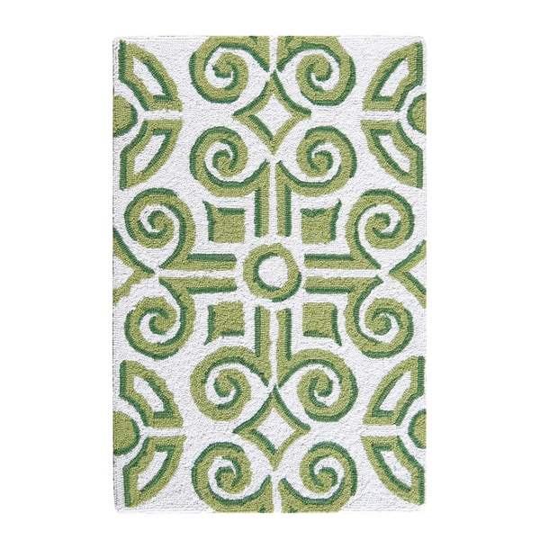 Boxwood Abbey Wool Hooked Rug
