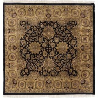 Ecarpetgallery Sultanabad Black Wool Area Rug (9' x 9')