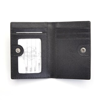 Royce Leather RFID Blocking ID Card Case Wallet in Italian Saffiano Leather