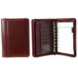 Red Franklin Covey Vinyl Classic Size Zip Around 7-Ring Binder