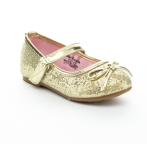 JELLY BEANS MOZO Kid's Girls Comfort Glitter Bow Ballet Flats Shoes