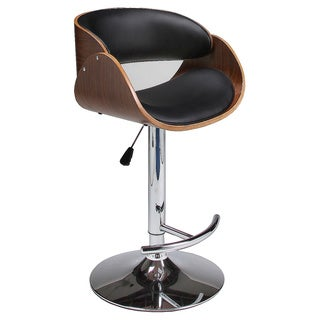 Vintage Mod Mid Century Modern Wood Adjustable Barstool