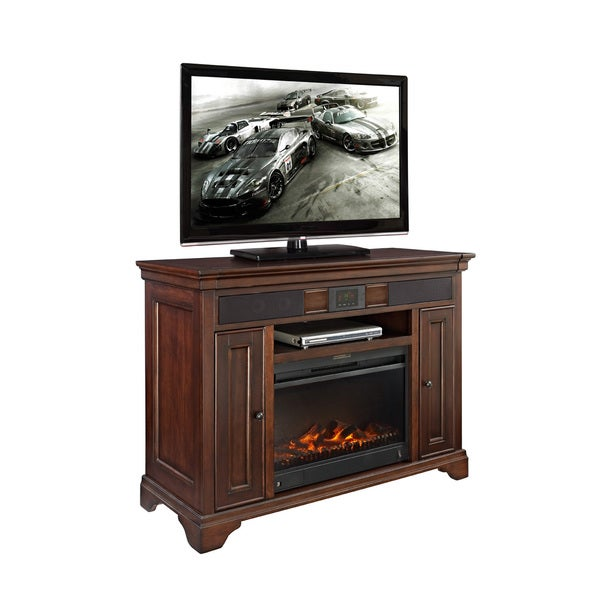 Mulberry Audio Fireplace TV Stand with Surround Sound