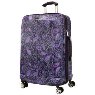 Ricardo Beverly Hills Mar Vista 25-inch Purple Paisley Hardside Spinner Suitcase