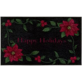 Nourison Accent Decor Xmas Black Accent Rug (1'6 x 2'6)