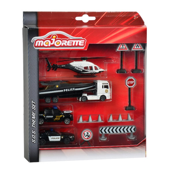 Dickie Toys Majorette SOS Police Theme Set