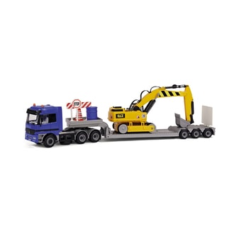 Dickie Toys Mercedes-Benz Actros Team with Digger