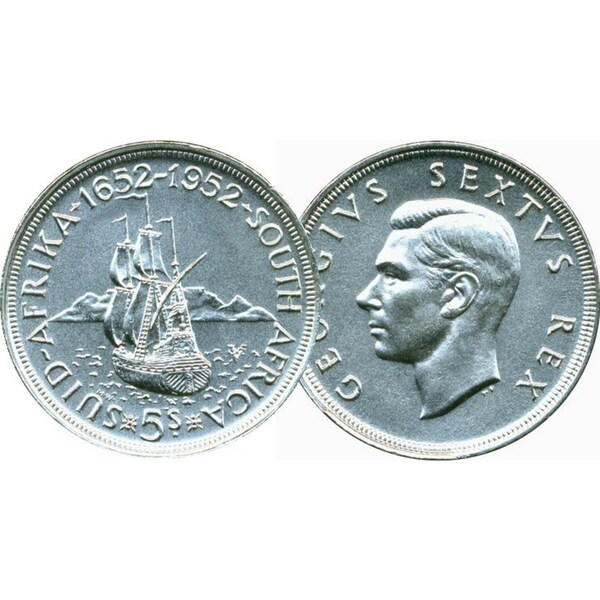 American Coin Treasures Historic South African Silver Shilling Ship Coin