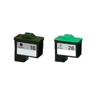 2PK 10N0016 ( #16 ) 10N0026 ( #26 ) Compatible Ink Cartridge For Lexmark X75 X1150 X1185 X1270 X2250 (Pack of 2)