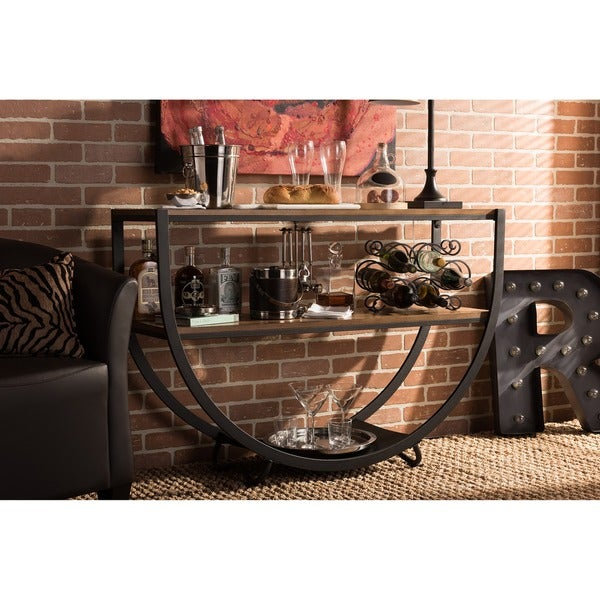 Blakes Industrial Distressed Wood Console Table