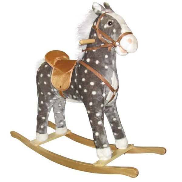Charm Co Dotty Rocking Horse with Sound