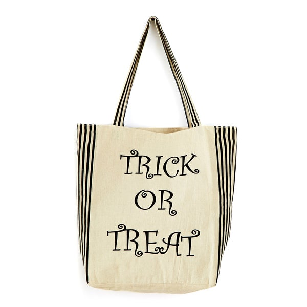 Stripe Trick Or Treat Bag 15-inch