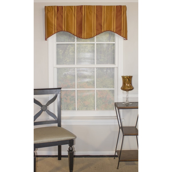 Euro Stripe Orange Shaped Valance